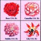 Scott #1879a FLOWERS 1981 block of 4 denomination: 18¢