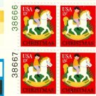 Scott #1769 CHRISTMAS – rocking horse 1978 stamp plate block 20 denomination: 15¢