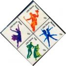 Scott #1752a DANCE 1978 block of 4 stamps denomination: 13¢