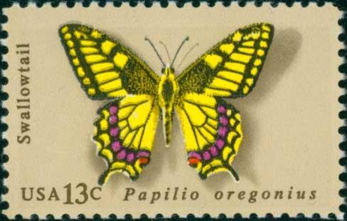 Scott #1712 Butterflies 1977 single stamp denomination: 13¢