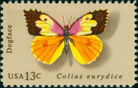 Scott #1714 Butterflies 1977 single stamp denomination: 13¢