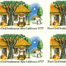 Scott #1725 ALTA CALIFORNIA – First Civil Settlement 1977 block of 4 stamps denomination: 13¢