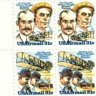 Scott #C91 & Scott #C92 WRIGHT BROTHERS 1978 block of 4 airmail stamps denomination: 31¢