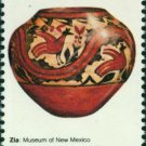 Scott #1706 AMERICAN FOLK ART - Zia pot 1977 single stamp denomination: 13¢
