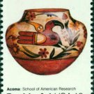 Scott #1709 AMERICAN FOLK ART - Acoma pot 1977 single stamp denomination: 13¢