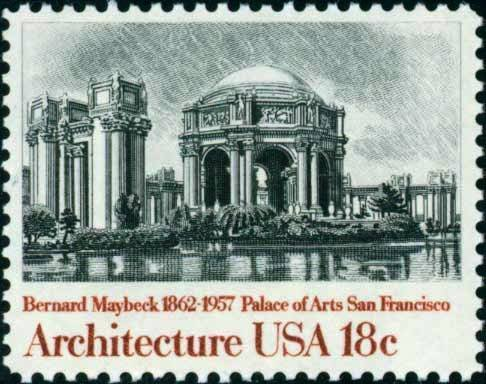 Scott #1930 PALACE OF THE ARTS  1981 American Architecture single stamp denomination: 18¢