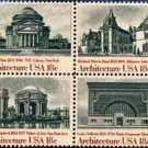 Scott #1931a AMERICAN ARCHITECTURE 1981 block of 4 stamps denomination: 18¢