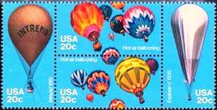 Scott #2035a BALLOONS 1983 block of 4 denomination: 20¢