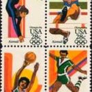 Scott # C104a 1984 SUMMER OLYMPICS block of 4 airmail stamps denomination: 28¢
