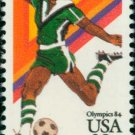 Scott # C104 1984 SUMMER OLYMPICS single airmail stamp denomination: 28¢