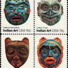 Scott #1837a INDIAN MASKS 1834-37  blk/4