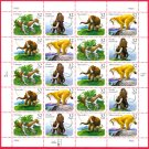 Scott #3080a Prehistoric Animals full sheet 32¢