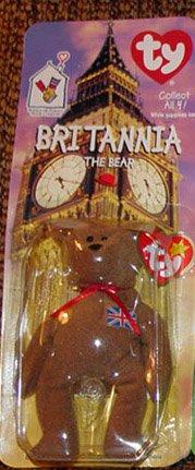 TY McDonald's Teenie Beanie - BRITANNIA the Bear (1999)