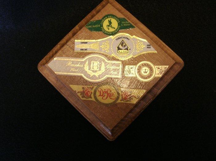 Wooden Cigar Lable Plaque Hand Made Don Rex, San Antonio, more