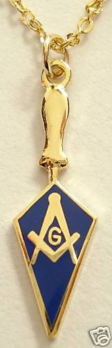 Trowel Square Compass Masonic Tool Pendant Necklace
