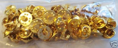 25 PCS Gold Military Clutch Lapel Pin Backs w/ NAILS