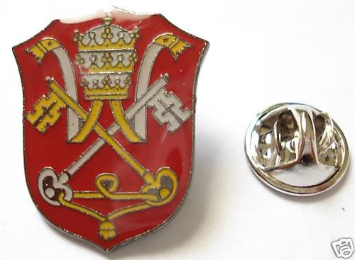 HOLY SEE Vatican Coat of Arms Pope Priest Catholic PIN