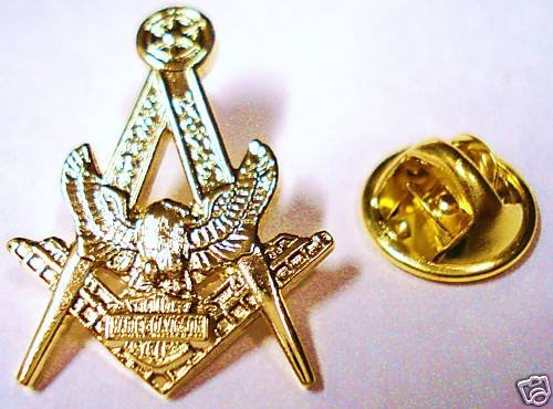 Harley Davidson HOG Masonic Gold Plated Masonry Pin