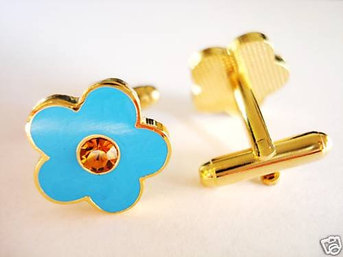 FORGET ME NOT Freemason Masonry Masonic CUFFLINKS SET