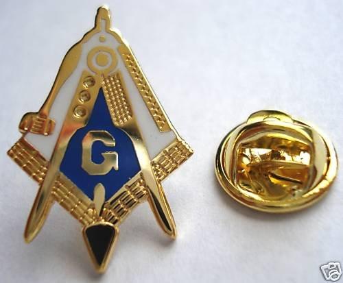 Master Masonic Working Tools Trowel Plumb LAPEL PIN