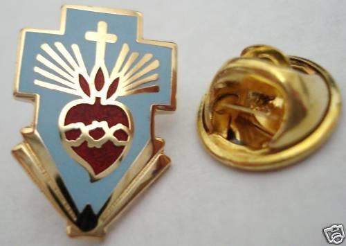 SACRED HEART of JESUS Cross Pope Priest Catholic PIN