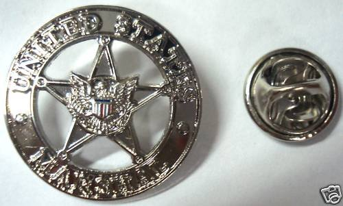 US MARSHALS Star Mini Badge Replica Tie Hat Lapel Pin