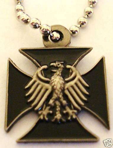 Germany German IRON CROSS Eagle Military Army PENDANT