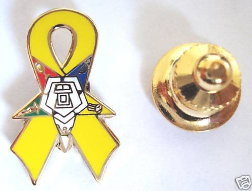 Order of the Eastern Star OES Yellow Ribbon Lapel PIN