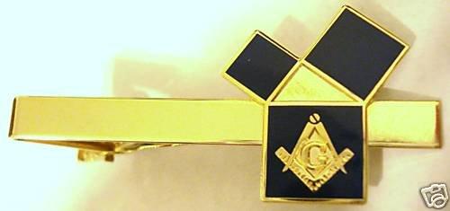 EUCLIDS 47 Problem Pythagorean Theorem Masonic Tie Bar