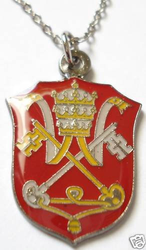 HOLY SEE Vatican Coat of Arms Pope Catholic PENDANT