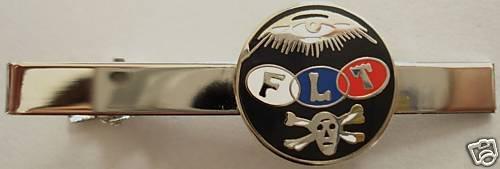 Odd Fellows Oddfellows Skull Crossbone FLT Tie Bar Clip