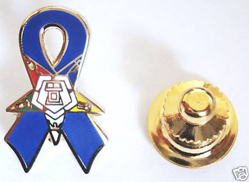 Order of the Eastern Star OES Blue Ribbon Lapel PIN