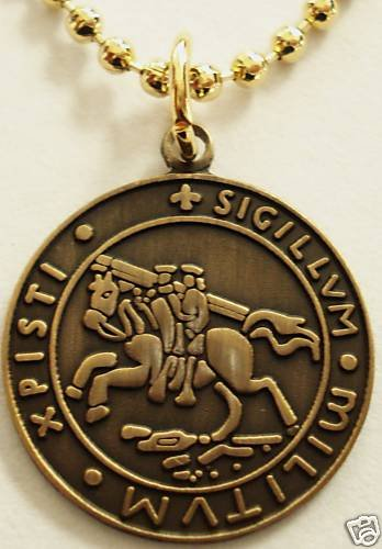 KNIGHTS TEMPLAR CRUSADER SEAL Pendant Necklace w/Chain