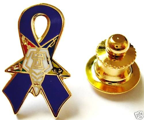 Order of the Eastern Star OES Purple Ribbon Lapel PIN