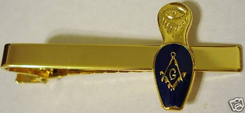 MASONIC SLIPPER Freemason Masonry Widow TIE BAR CLIP