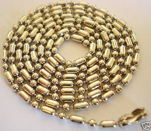 10 CHAINS SURPLUS BALL BARBELL DOG TAG STEEL NECKLACES
