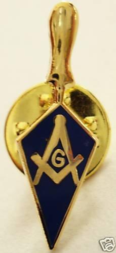 Trowel Square Compass Masonic Lapel Pin Tie Tack