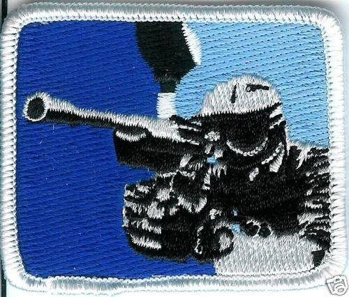Paintball Logo Shoulder Marker BLUE Sticker PATCH