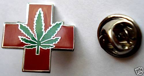Medical Marijuana Pot Hemp Ganja Cannabis Lapel Tie Pin