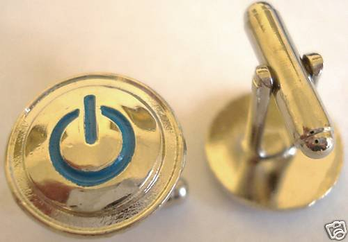 POWER ON OFF ICON mac dell hp iphone ipod CUFF LINKS