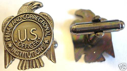 PRISON GUARD Dept of Labor Jail Mini Badge CUFFLINKS