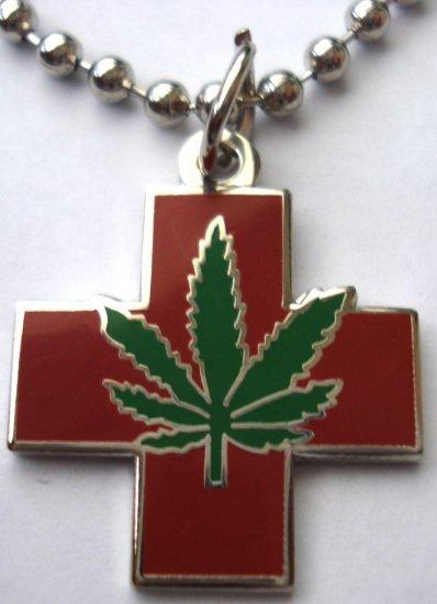 Medical Marijuana Pot Hemp Cannabis Pendant Necklace