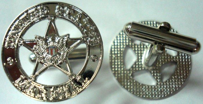 US MARSHALS Star Police Mini Badge Replica CUFFLINK SET