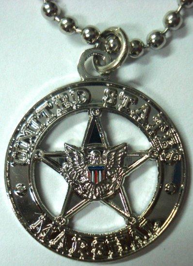 US MARSHALS Star Mini Badge Replica Pendant Necklace