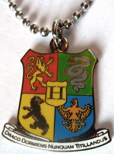 HOGWARTS Coat of Arms Crest Harry Potter Pendant Chain