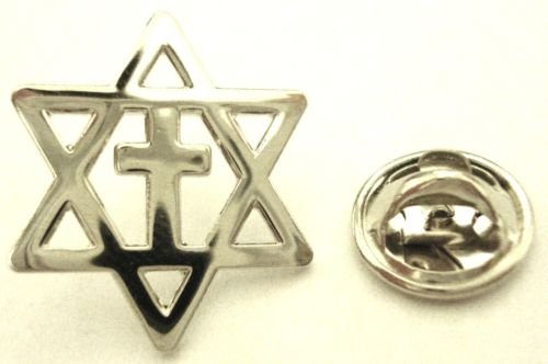 MESSIANIC CROSS Christians for Israel Lapel Hat Pin