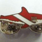 SCUBA DIVER Flag Great Tank Tiger White Shark Hat Jacket Vest Tie Tac Lapel Pin