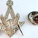 Harley Davidson HOG Masonic Masonry Polished NICKEL Hat Jacket Tie Tac Lapel Pin