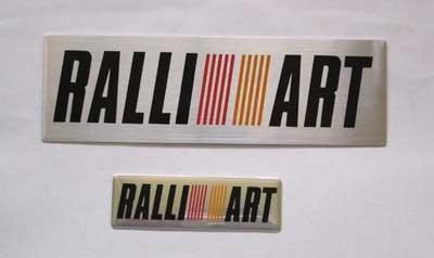 "RALLIART 5.25"" x 1.5"" & 2.5"" x 0.75"" Aluminum Emblem"