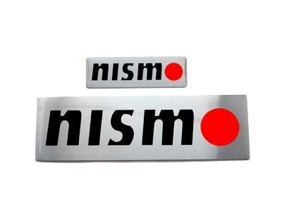 """Nissan NISMO 5.25"""" x 1.5"""" & 2.5"""" x 0.75"""" Aluminum Emblem"""